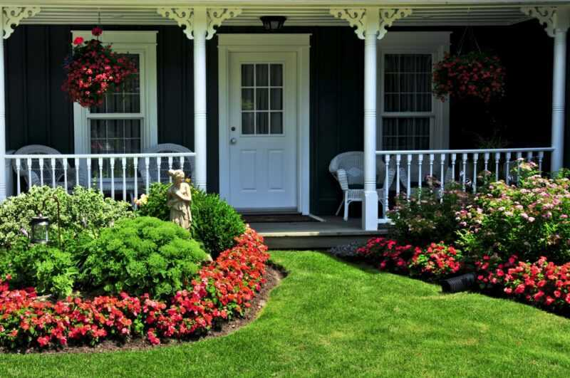 Examples of the design of beautiful flower beds and the rules for creating a good flower bed
