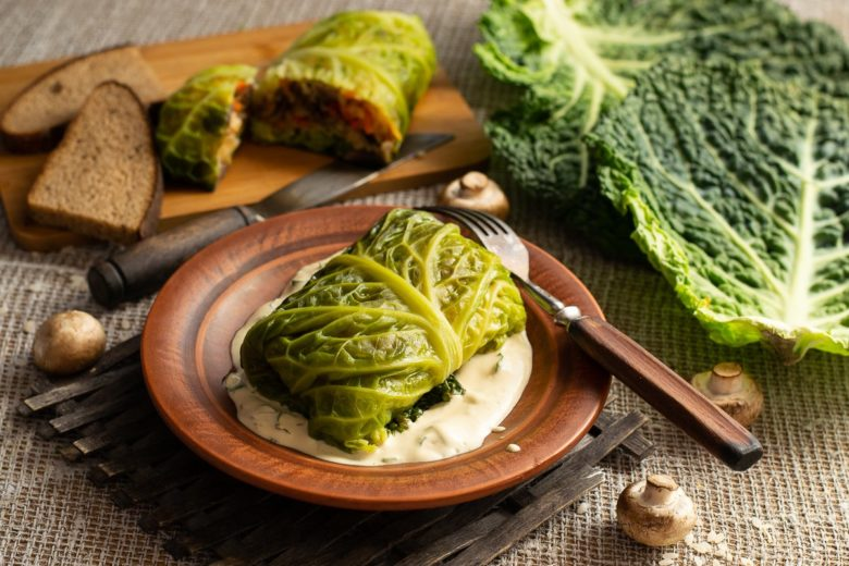 Very beautiful and exquisite cabbage rolls