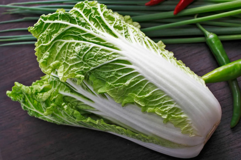 Delicate and juicy Chinese cabbage