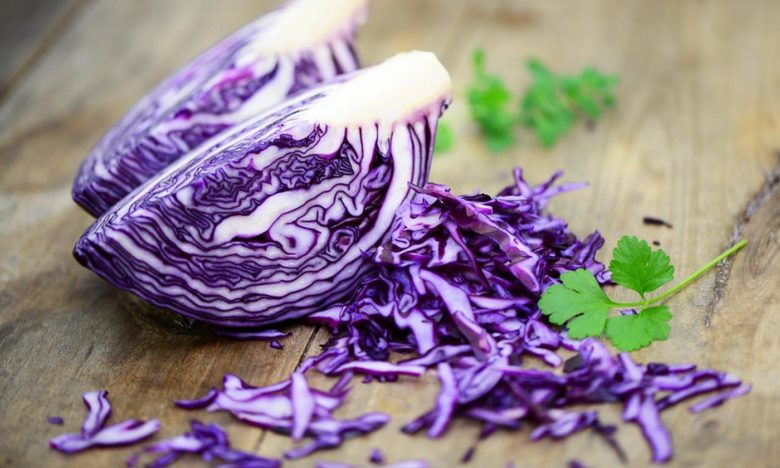 Red cabbage is pickled, salted, stewed.