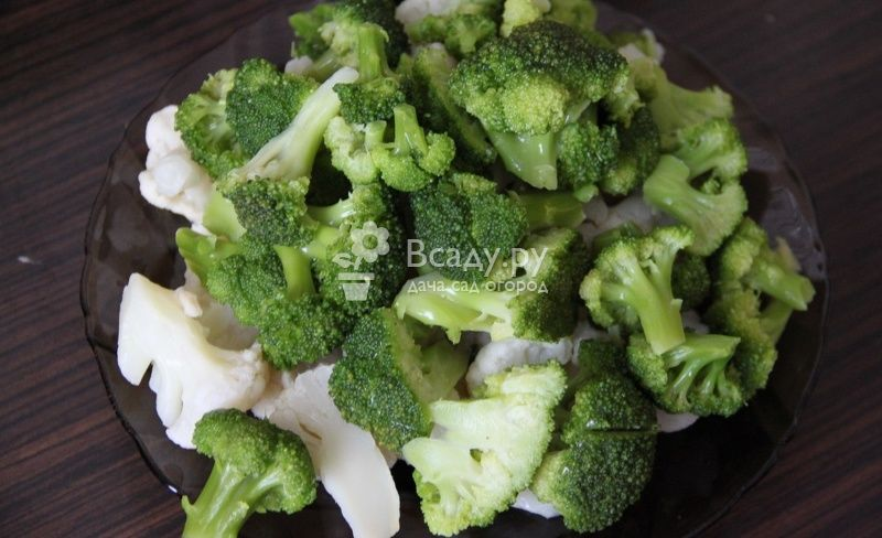 Broccoli can be frozen along with cauliflower